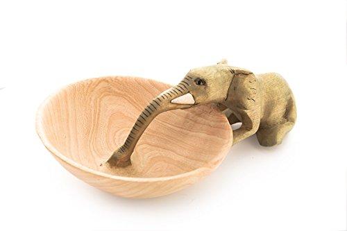 Fair Trade Handcarved Animal Motif Small Bowls (Elephant Drinking)