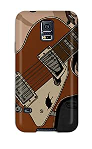 DanMarin Premium Protective Hard Case For Galaxy S5- Nice Design - Beck Mongolian Chop Squad Lucille