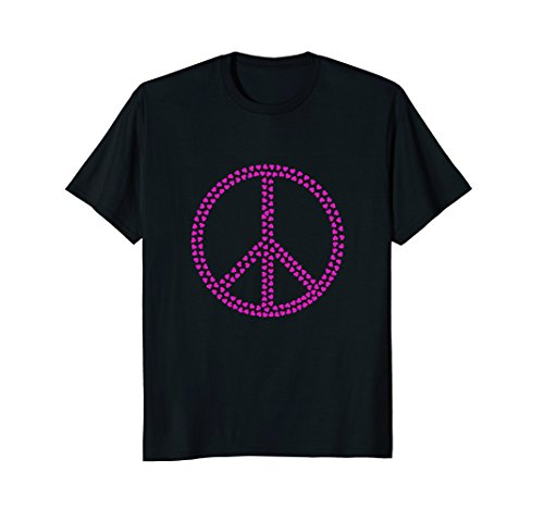 Pink Peace Heart (Pink Hearts Peace Sign t-shirt)