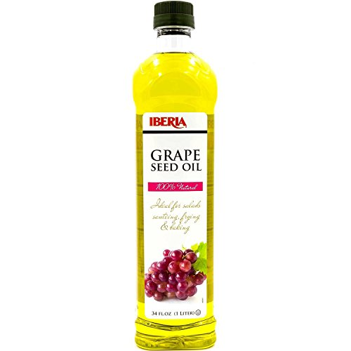 Iberia Grapeseed Oil 34 Fl Oz, 100% Pure, Natural & Cold-Pressed Grapeseed Oil from Spain, All-Natural, Artisanal, Great for Cooking, Sauteing, Marinating, and Dressing