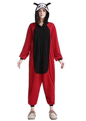 Newcosplay Ladybug Unisex Adult Onesies Pajamas Cosplay Halloween Anime Costumes (S-for Height 59
