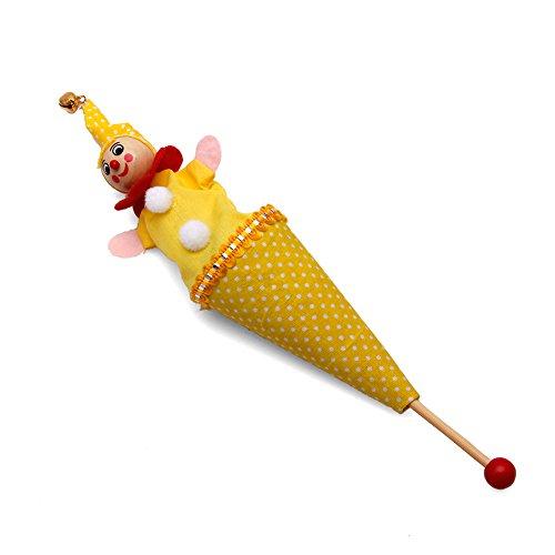 PoityA Retractable Smiling Clown Hide Cat Seek Play Jingle Bell Baby Kid Funny Gift Toy Random delivery ()