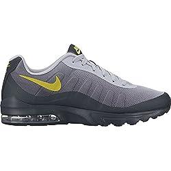 NIKE Men's Air Max Invigor Print Running-Shoes, Wolf Grey/Bright Cactus/Anthracite, 12 D US