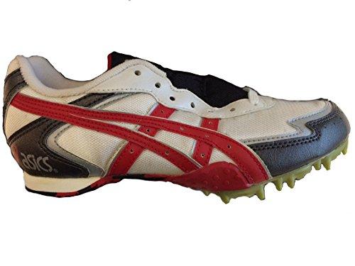Asics - Zapatillas de atletismo de Material Sintético para hombre Bianco/Rosso/Argento