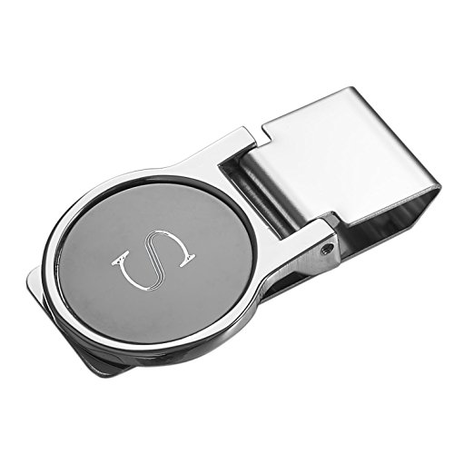 W With Personalized Visol Initial Visol Origin Origin Money Gunmetal Clip Gunmetal vBfnPqc