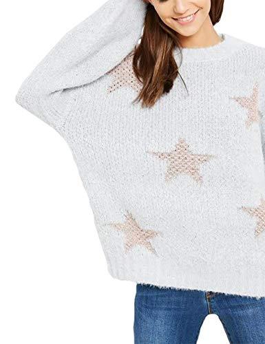 - Wishlist Ombre Metallic Star Sweater-Silver-M/L