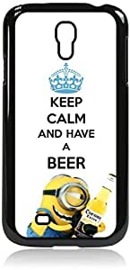 Keep Calm and Have a Beer- Hard Black Plastic Snap - On Case with Soft Black Rubber Lining-Galaxy s4 i9500 - Great Quality!