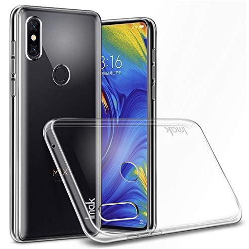 Imak Xiaomi Mix 3 Mi Mix 3 Case + Screen Protector, Transparent Solid Plastic Case [Ultra Thin and Light] [Anti-Yellowing] Cristal Clear Cover ()