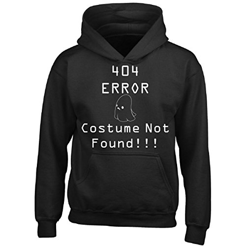 The Ghost Of Christmas Present Costume (404 Error Costume Not Found With Ghost Atd - Boy Boys Hoodie Kids L Black)