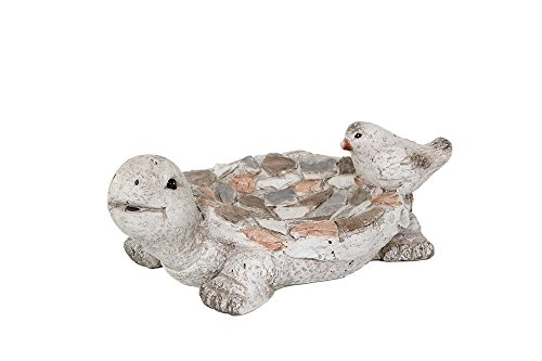 Special T MGO Turtle Stone Bird Feeder, Set of 2 by Special T