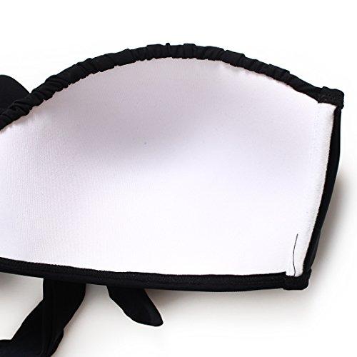 YONGYI La Sra. Black cintura alta split bikini reunir pliegues zoom video girl trajes de baño spa delgado