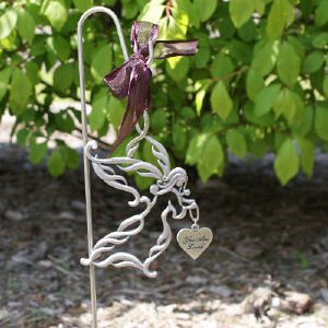 Captivating Personalized Memorial Angel Garden Stake