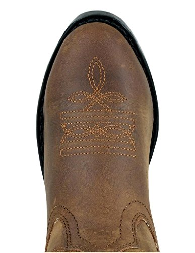 Smoky Boots Child Width Sole Denver 5 Distress Brown Oiled EE Rubber Mountain Kids Western 12 rqnUwWrB1
