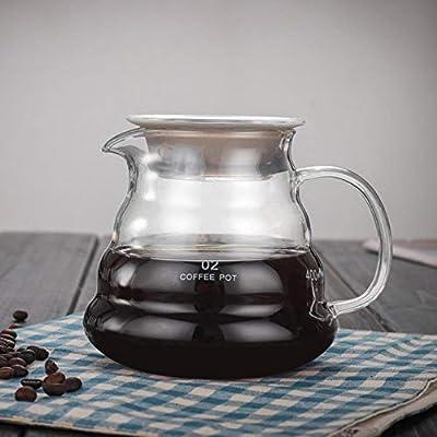 Jarra Cafetera de Goteo 360ml 600ml 800ml V60 Verter sobre la Estufa de Vidrio Servidor de café Hervidor de café Brewer Barista Percolator Clear, 580ml: Amazon.es: Hogar