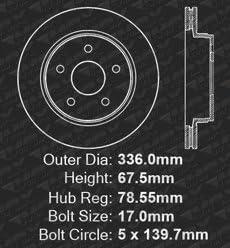 Premium Slotted Drilled Rotors + Ceramic Pads Max Brakes Front Supreme Brake Kit KM031631 Fits: 2012 12 Ram 1500 w// 5 Lugs Rotors