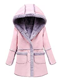 Capturelove Girls Winter Lamb Fleece Hooded Coat