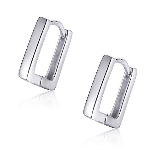 Sterling Silver Skinny Hoop Huggie Earrings Ear Cuffs