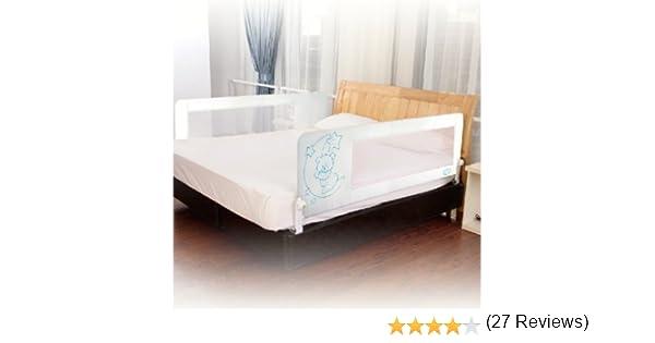 Barrera de cama nido para bebé, 150 cm. Modelo osito y luna beige. Barrera de seguridad.: Amazon.es: Bebé
