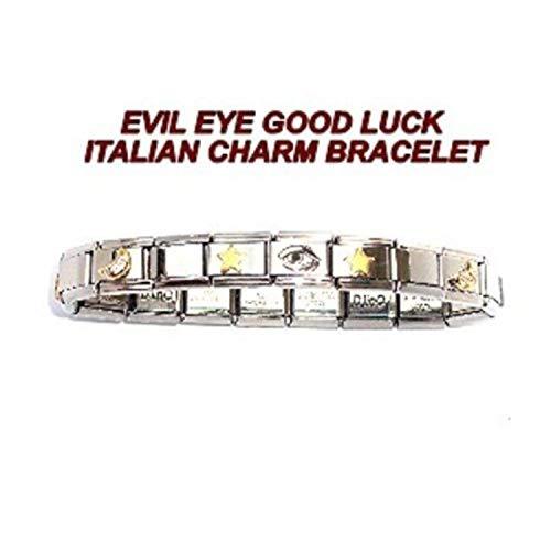 - TUCCI CHARMS Evil Eye Italian Charm Bracelet