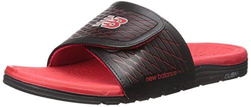 Red Men's 10 US M Red Slide New Balance Sandal Black Cush Black Fn55qPa7w