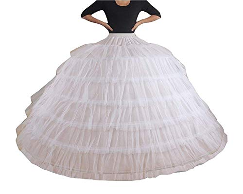 YUAKOU Women's 7 Hoops Wedding Accessories Petticoat Underskirt Slips Quinceanera Gown Ball Gown Bridal Gown …