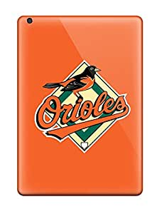 Tpu Case Cover For Ipad Air Strong Protect Case - Baltimore Orioles Design
