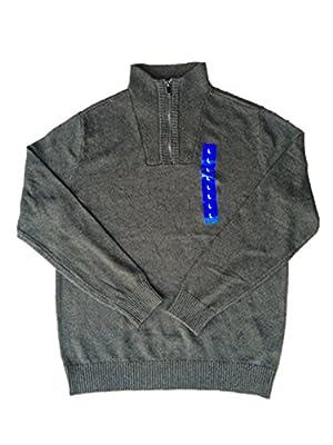 Calvin Klein Men's ¼ Zip Sweater (asp Htr, Large)