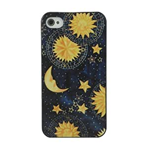 Mini Kitty-Vintage Retro Sun Moon Space Nebula Pattern Hard Back Skin Case Cover For Apple iPhone 4 4G 4S Style A