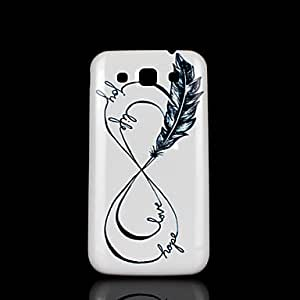 SHOUJIKE Phrase Pattern Cover fo Samsung Galaxy Win I8552 Case