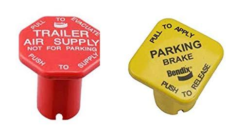 Bendix Red and Yellow Brake Knob Set