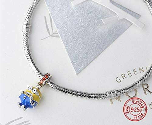 EVESCITY 925 Silver Minions Beads for Charm Bracelets /♥ Best Jewelry Gifts for Girls /♥