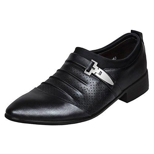 Monk Oxfords On Black straps Mens for Dress toe Slip Summer Cap Formal Punched Shoes Single 5HBOqY