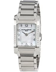 Baume & Mercier Womens MOA10051 Quartz Stainless Steel Mother-of-Pearl Dial Watch