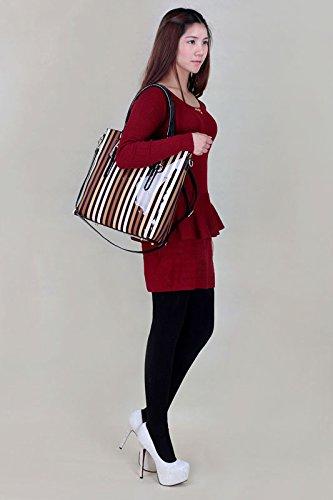 ANNA GRACE - Bolso al hombro de piel sintética para mujer Design 4 - Multi/C