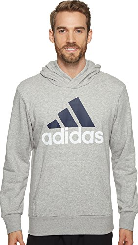 Adidas Terry Pullover (adidas Men's Essential Linear Logo Pullover Hoodie, Medium Grey Heather, Large)