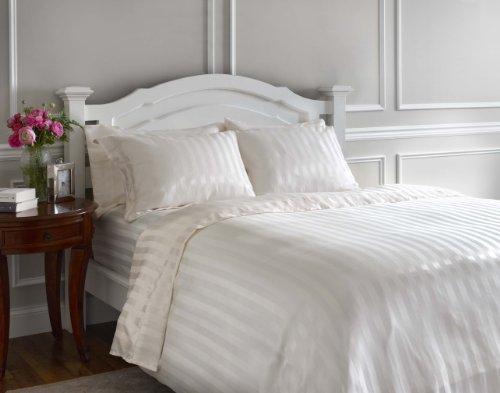 Whispersilk Luxury Stripe Pillowcases, Standard, Butter