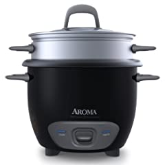 """Enjoy easy home cooking with the aroma 6-cup (cooked) pot style rice cooker and food steamer. Restaurant-quality rice. Healthy steamed meals. Delicious one-pot dishes. Prepare all this and more at the flip of a switch! Aroma takes the """"cook"""" ..."""