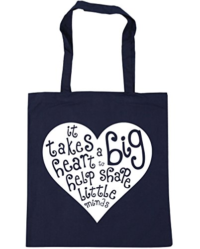 Shopping Bag Navy French 10 to HippoWarehouse Takes Big litres x38cm a Heart It Tote Help Minds Shape Little Gym Beach 42cm xSgq6xPwTR