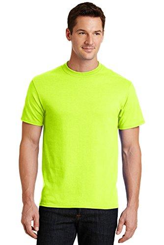 Port & Company Men's 50/50 Cotton/Poly T Shirt 6XL Safety Green ()