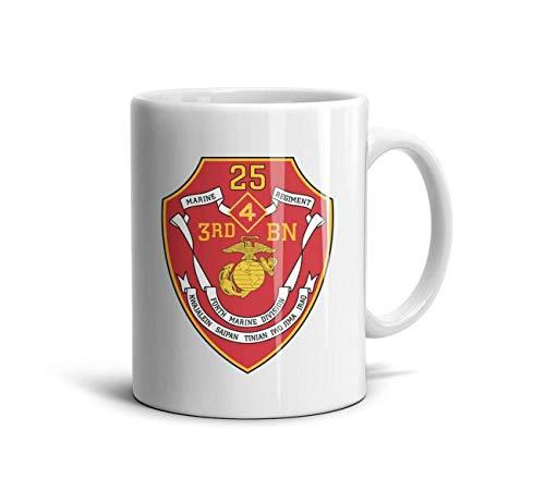 3rd Battalion 7th Marine Regiment - MIENTITE Fashion Coffee Mugs 3rd Battalion 25th Marine Regiment of United States Mariners Corps Travel Mug Lover Ceramic Birthday Coffee Cup Gift