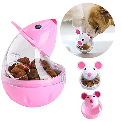 Legendog Cat Slow Feeder Cat Food Ball Mice Tumbler Shaped Pet Treat Ball Cat Food Toy Ball Pet Food Ball ()