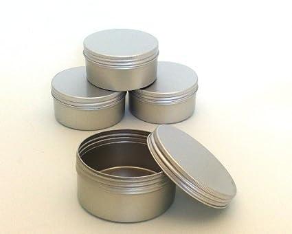 Cajas Redondas de Aluminio Extra Grande Vacías para Cuidado de la Piel Alimentación Almacenaje Crema Corporal