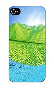 Protective Tpu Case With Fashion Design For Iphone 5/5s (a Leaf In Water )