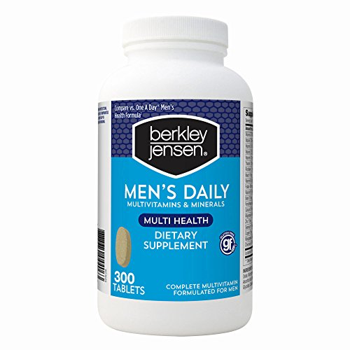 Berkley & Jensen Men's Daily Multivitamins and Minerals Supplement Tablets – 250 Count – Compare to Men's One A Day For Sale