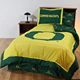 College Covers Oregon Ducks Bed in A Bag Twin - with Offray Team Colored Sheets