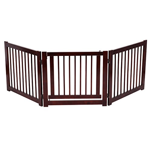 Price comparison product image Cherry Pine Wood Dog Safety Gate With Ebook