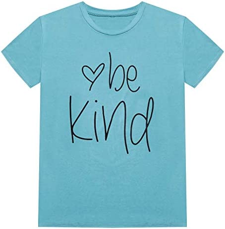 Hellopopgo Womens T Shirts Crewneck Short Sleeve Summer Tops