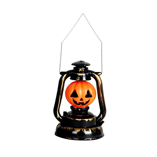 Party Diy Decorations - Pumpkin Skull Witch Lamp Hanging Halloween Decoration Portable Light Holder Bar Haunted House Props - Anime Earth Meter Pumpkin Decor Skull Mask Ghost Doll Miku ()