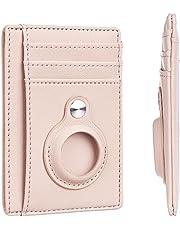 Hawanik Cartera delgada minimalista de bolsillo frontal con soporte integrado para AirTag