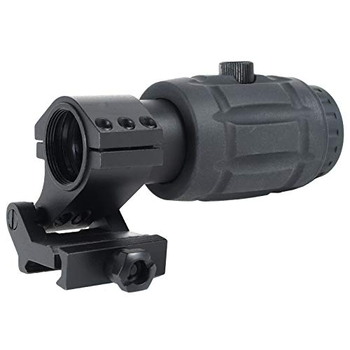 AT3 Tactical RRDM 3X Red Dot Sight Magnifier with Flip-to-Side Mount
